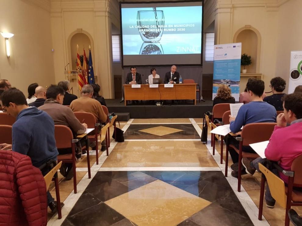 La jornada sobre la calidad de las aguas de Aragón de Zinnae, ayer
