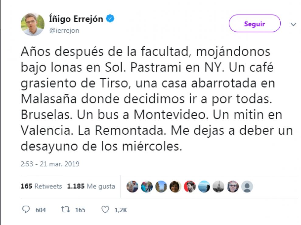 Twitter Íñigo Errejón