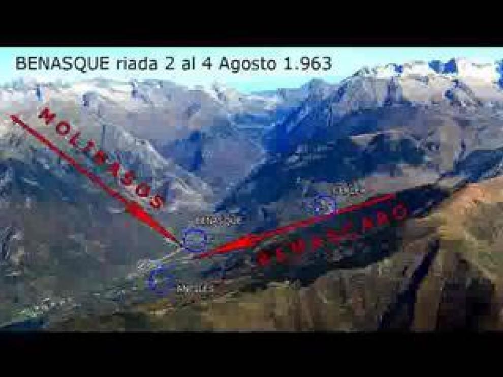 Entre los días 2 y 4 de agosto de 1963, el Ésera y los barrancos de Remascaro y el de Molinasos se desbordaron, causando una catástrofe en el valle de Benasque.