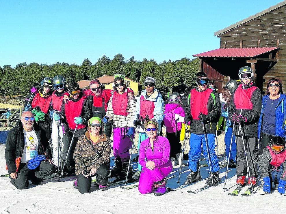 El esquí, una escusa para la integración