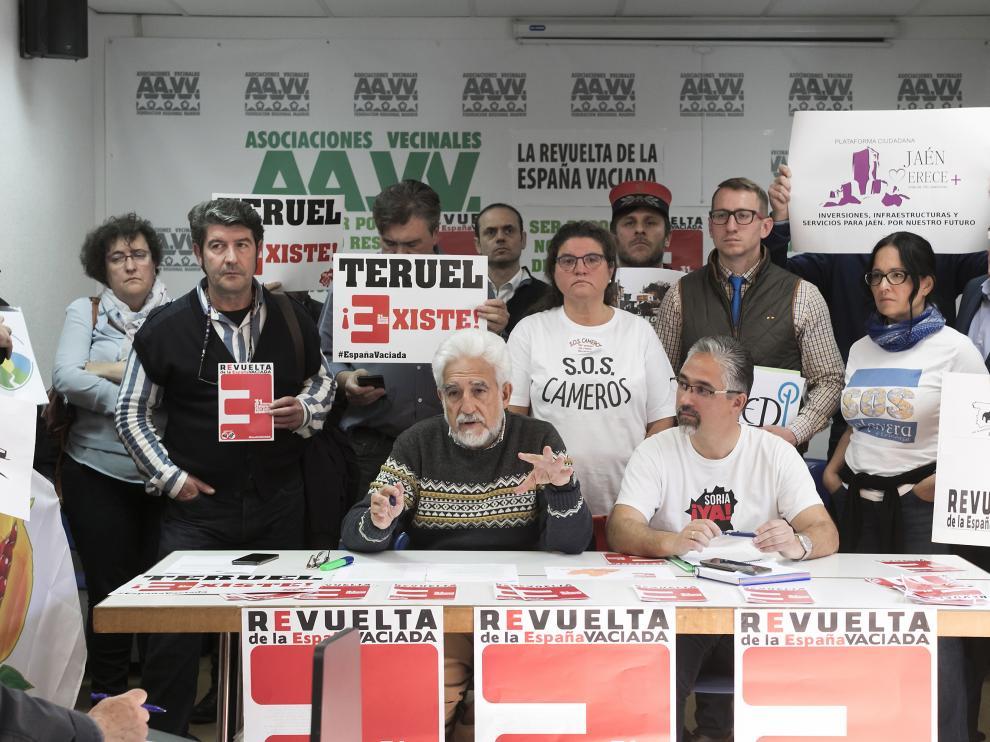 Teruel Existe y Soria Ya presentan en Madrid de la manifestación del 31 de marzo de la Revuelta por la España vaciada