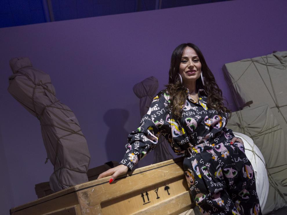 María Escoté, en Zaragoza, donde cerró con un desfile la segunda edición de la Aragón Fashion Week