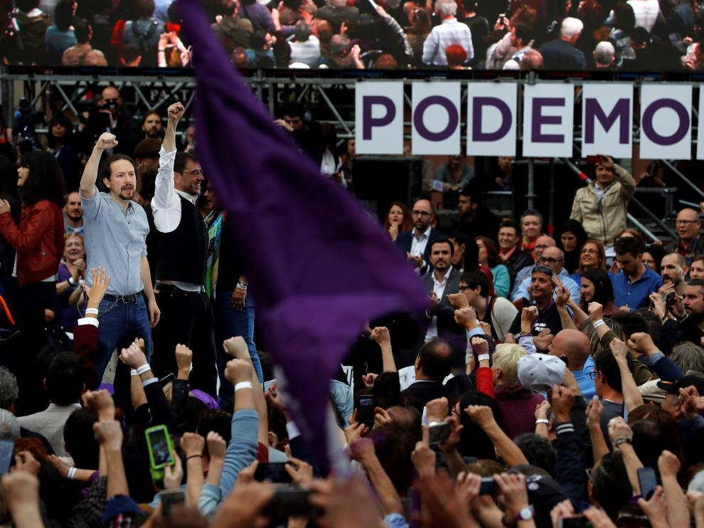 Pablo Iglesias, en su regreso a la primera plana de Podemos.