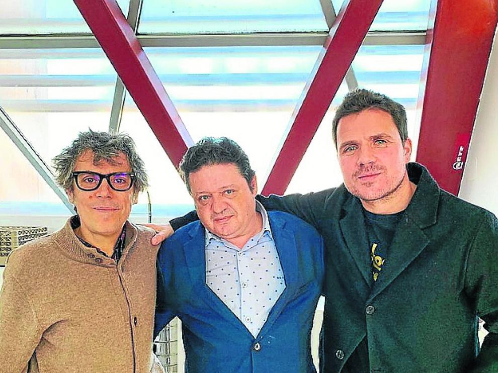Iván Ferreiro, Arturo Salvador y Dani Martín.