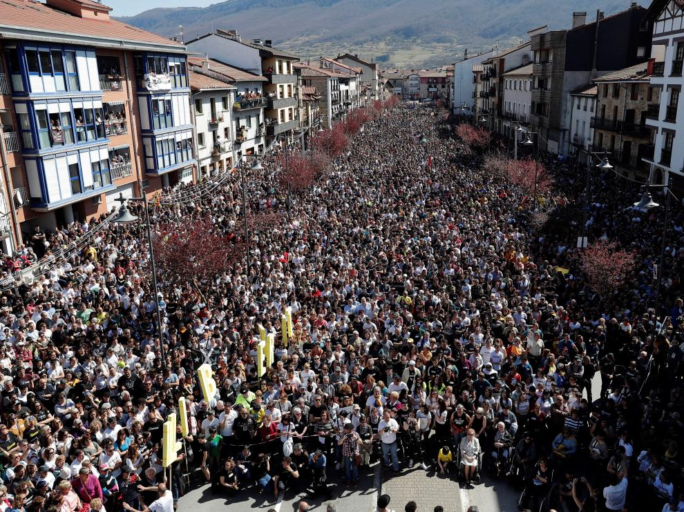 Manifestación en contra de la confirmación de las penas del caso Alsasua.