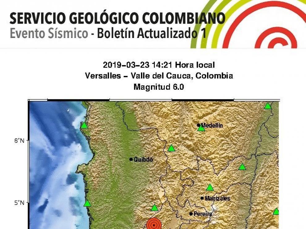 Seísmo en Colombia
