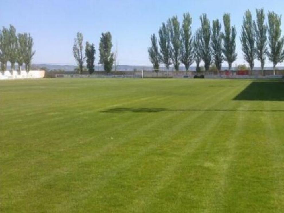 Campo de fútbol del Carmen de Sariñena donde juega sus partidos el Peñas Sariñena