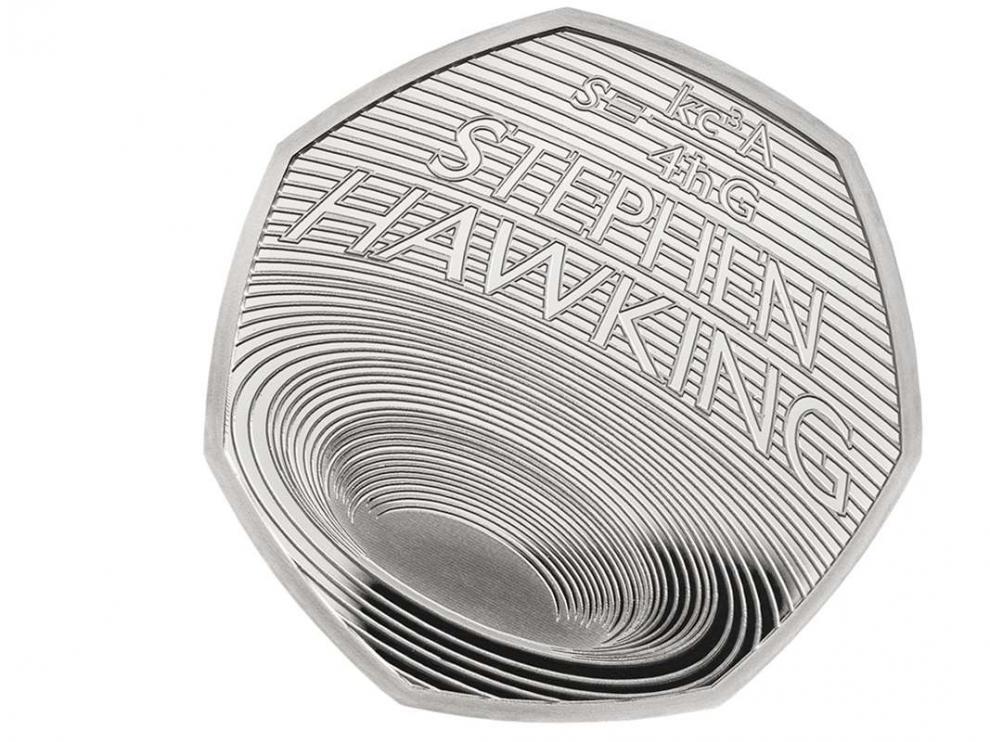 Moneda en homenaje al físico, cosmólogo y divulgador Stephen Hawking en el primer aniversario de su fallecimiento.