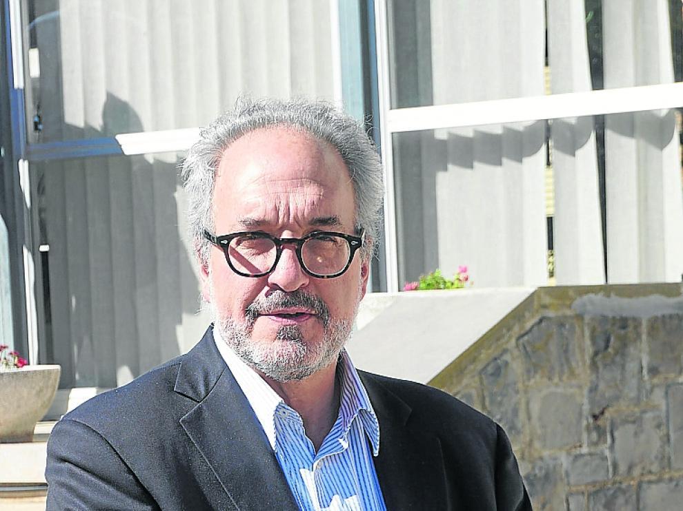 Juan Lubroth, jefe de Veterinaria de la FAO, en Zaragoza.