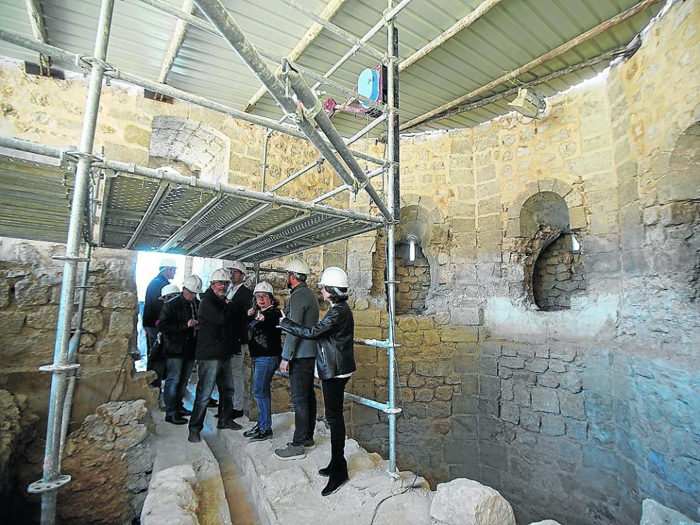 Visita a las obras de restauracion de la torre de la bombardera y lamuralla anexa. Foto Antonio Garcia/bykofoto. 25/03/19 [[[FOTOGRAFOS]]]