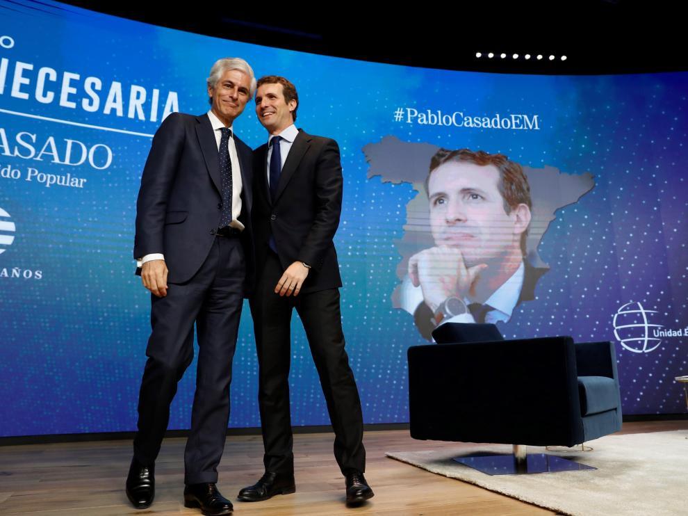 Pablo Casado y Adolfo Suárez