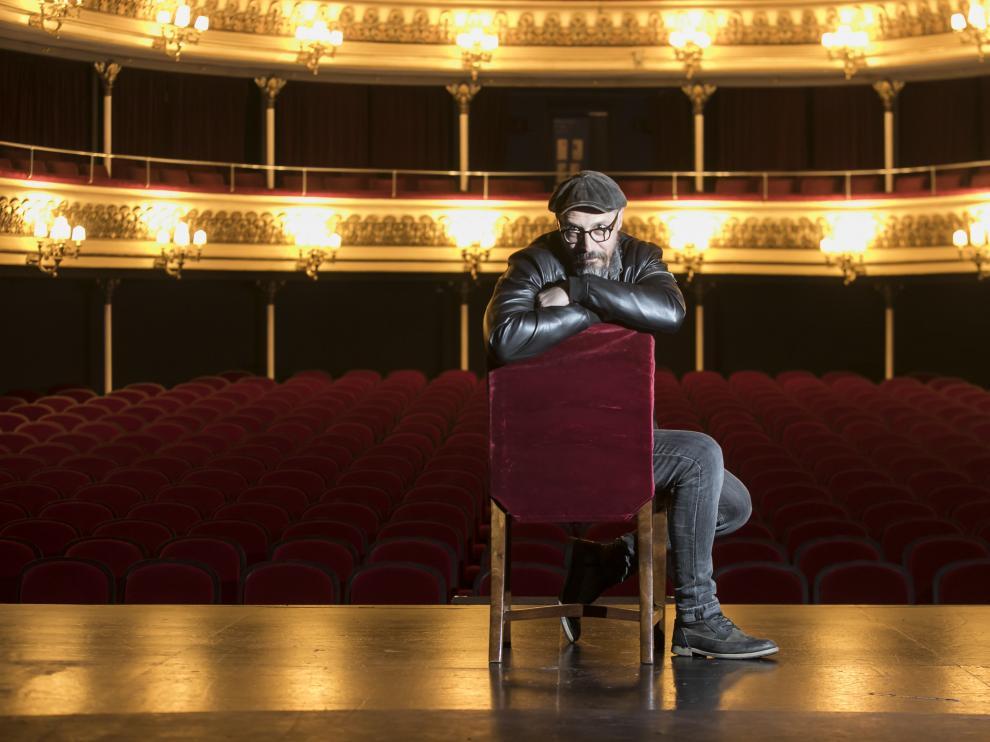 Fele Martínez, el martes, en el Teatro Principal de Zaragoza, donde presentó la obra 'Todas las mujeres'.