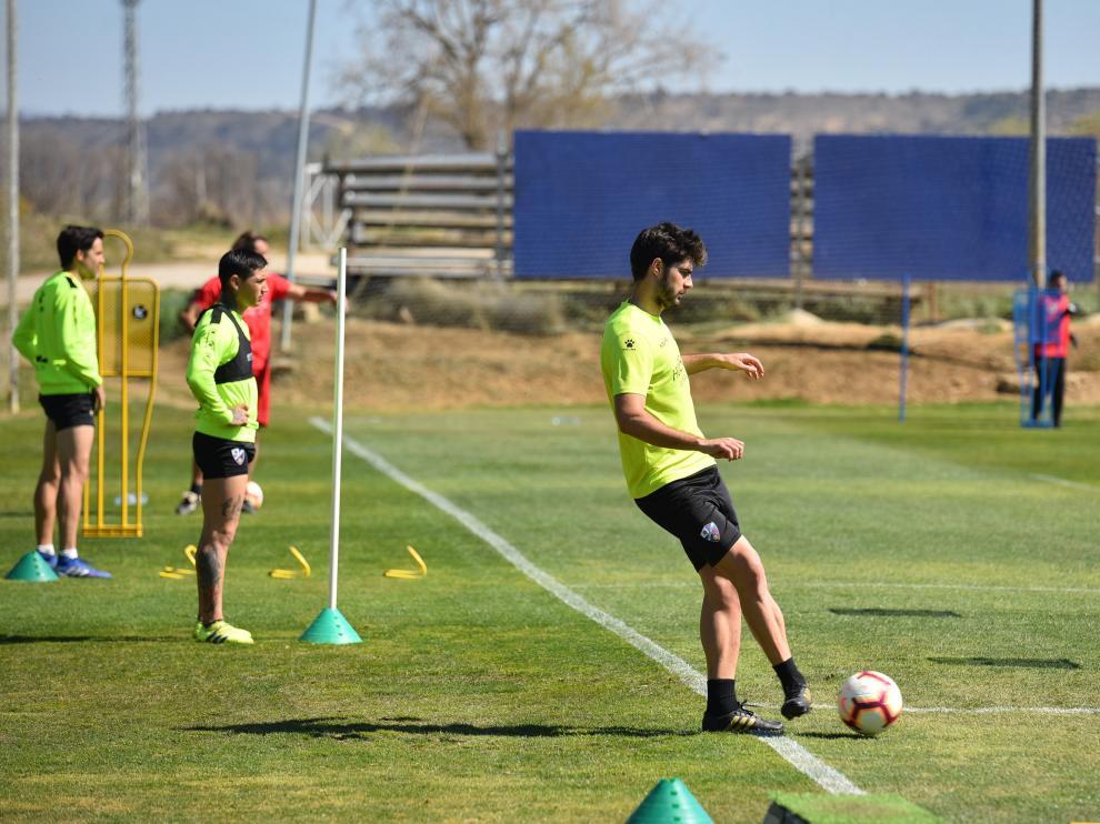 Entreno SD Huesca. AECA.Heraldo / 26-03-2019 / Foto Roger Navarro [[[FOTOGRAFOS]]]