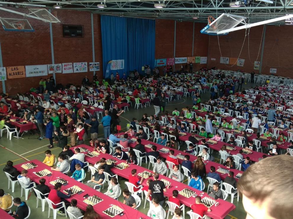 Encuentro de Ajedrez a la escuela en Cariñena
