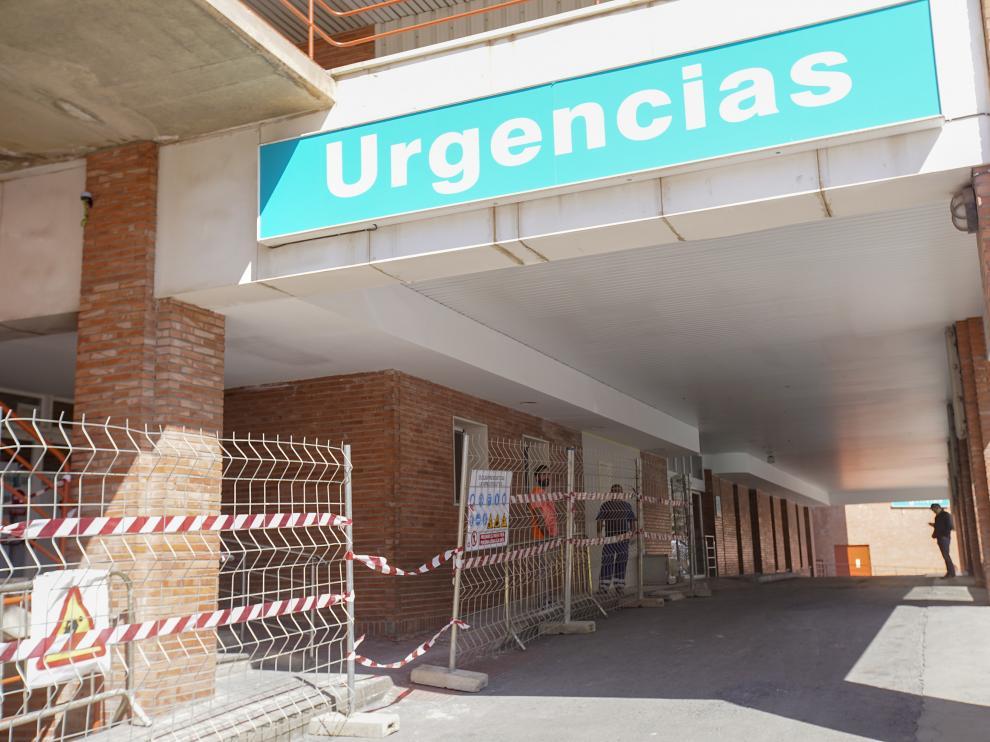 Inicio obras en urgencias del hospital Obispo Polanco de Teruel. FotoAntonio Garcia/bykofoto. 26/03/19 [[[FOTOGRAFOS]]]
