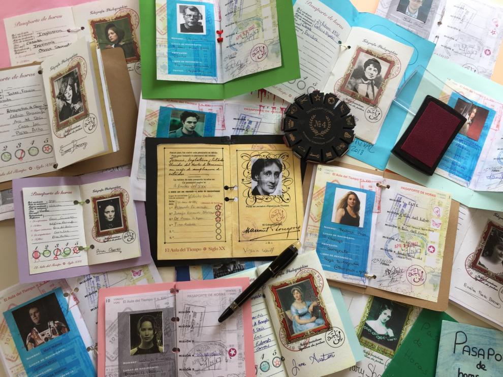 Pasaportes del Aula del Tiempo, un proyecto en torno a la literatura en el IES Avempace.