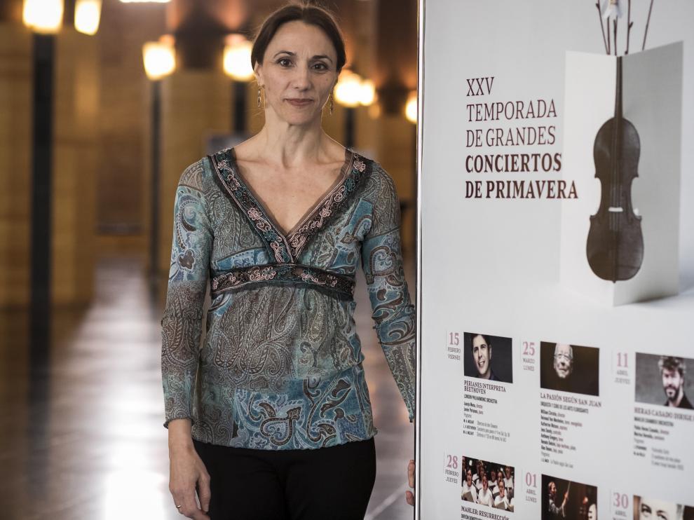 La aragonesa Laura Pérez Soria, directora de orquesta.