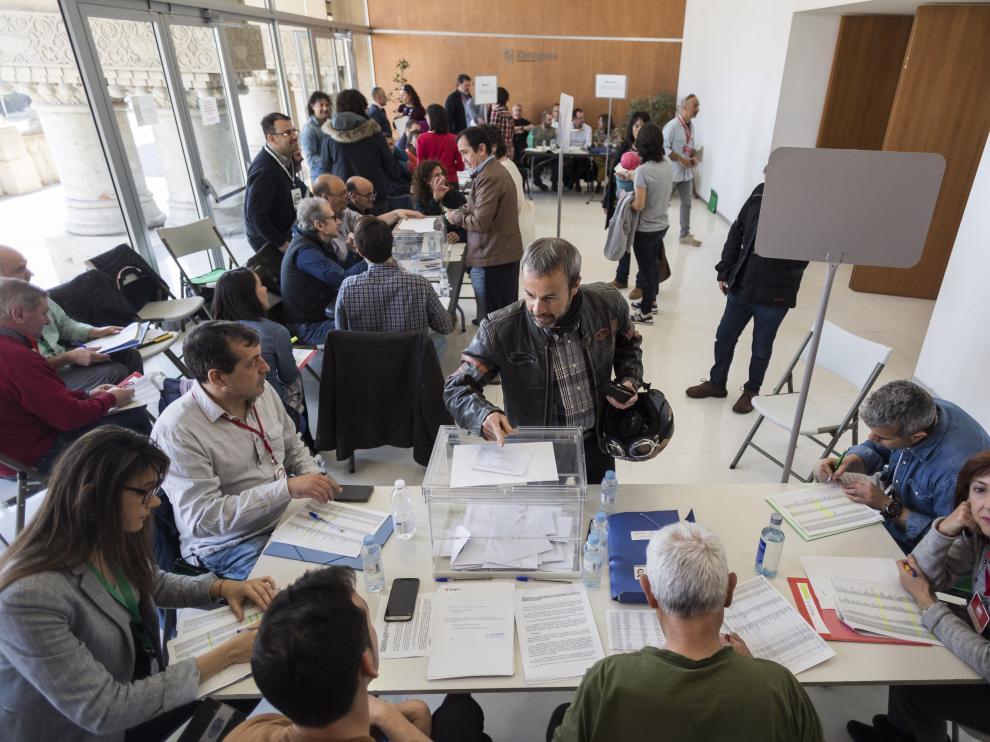 Las elecciones sindicales se desarrollaron sin incidentes en el edificio Seminario