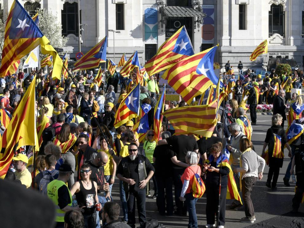 Manifestación independentista en Madrid
