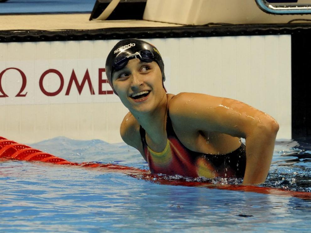 María Delgado, una de las deportistas nominadas, en los Juegos de Río de Janeiro.