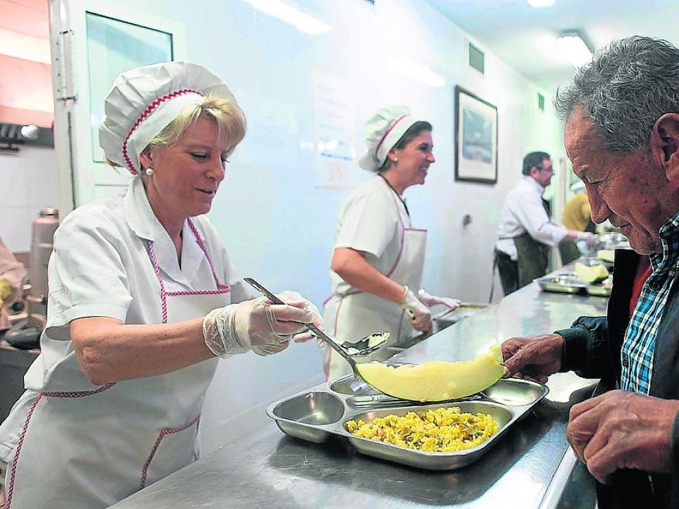 Comedor de la obra social del Carmen