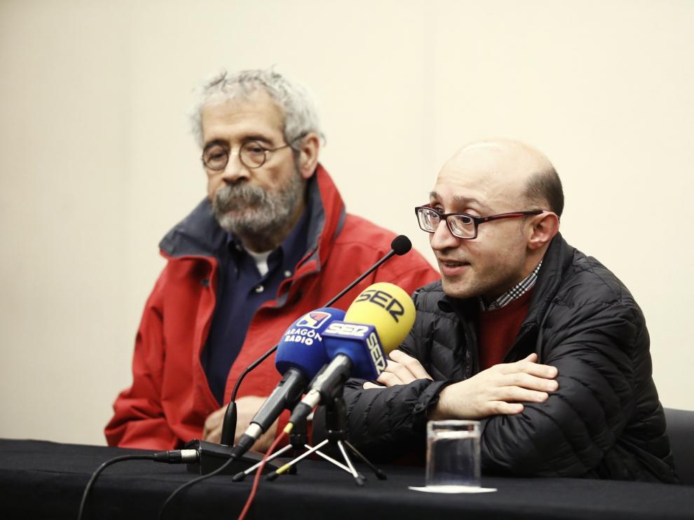 Félix Zapatero, a la izquierda, junto a Jesús Vidal. Ambos serán reconocidos en los Premios Simón.