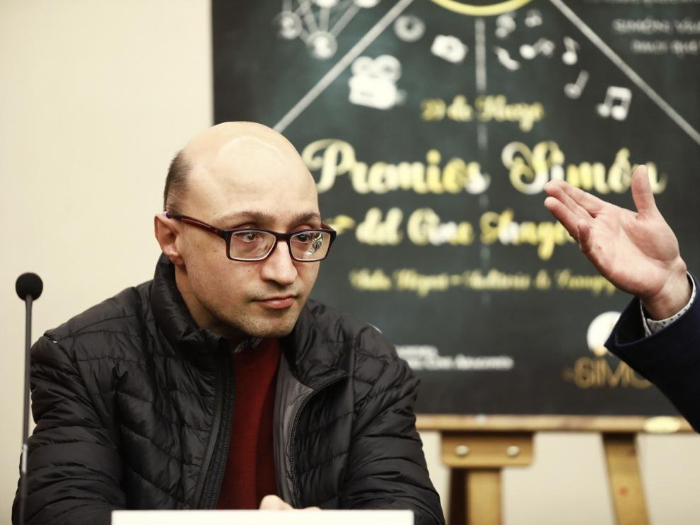 Jesús Vidal, en Zaragoza, donde participa en la gala de los Premios Simón.