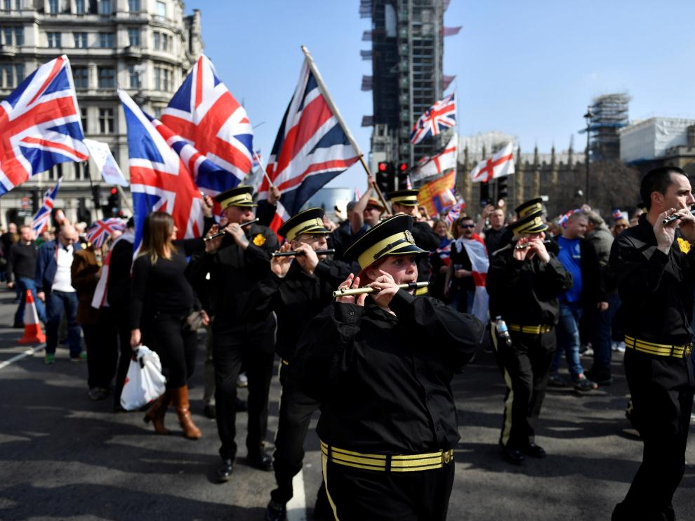Marcha probrexit en Londres