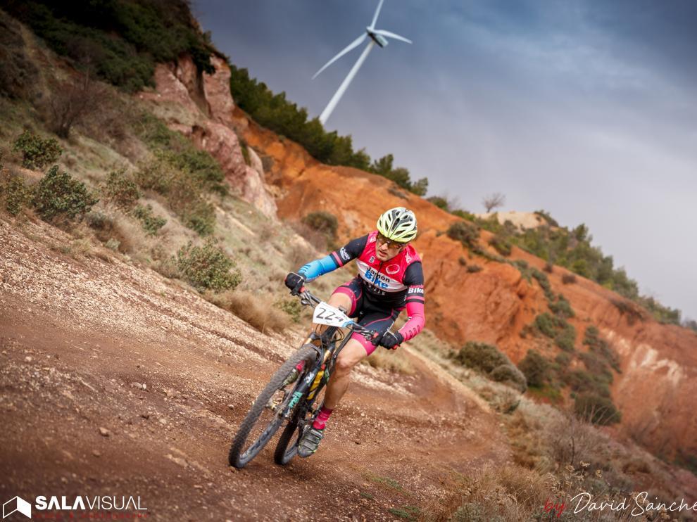Un corredor, en la pasada edición de la Jamón Bike Calamocha