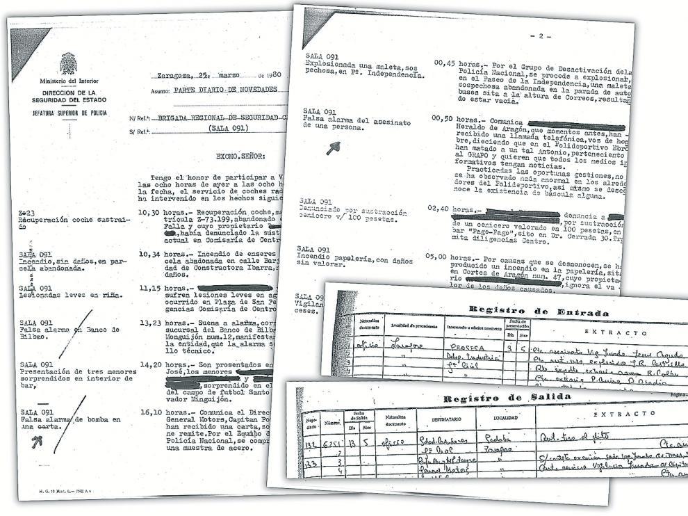 Documentos de la Policía Nacional.