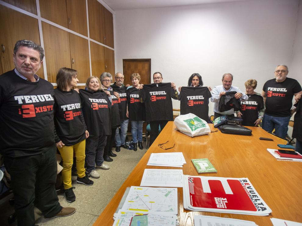 Reunion de la plataforma Teruel Existe para ultimar los preparativosde la manifestacion del Domingo 31 en Madrid. Foto Antonio Garcia/Bykofoto.29/03/19 [[[FOTOGRAFOS]]]