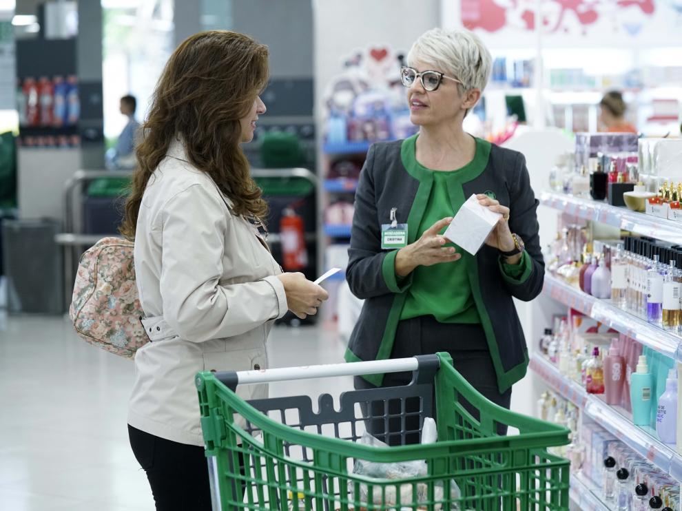 Una imagen del nuevo modelo de tienda de Mercadona, que se estrenará en Ranillas este lunes, 1 de abril.