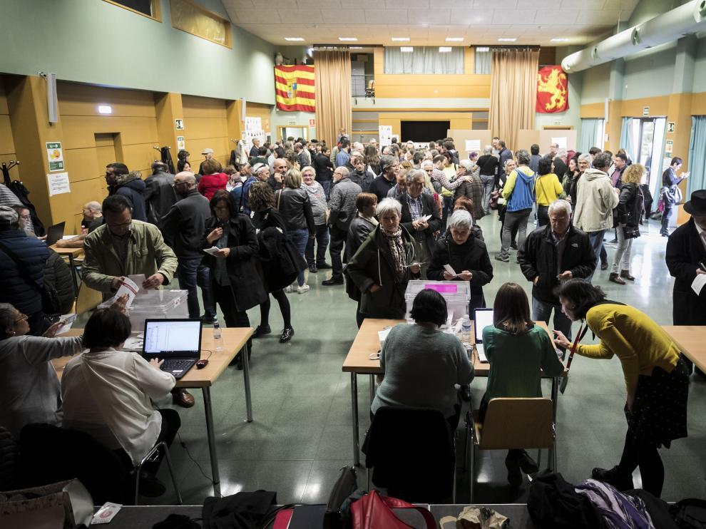 ELECCIONES PRIMARIAS ZEC / CENTRO LAIN ENTRALGO ( ZARAGOZA ) / 31/03/2019 / FOTO : OLIVER DUCH [[[FOTOGRAFOS]]]