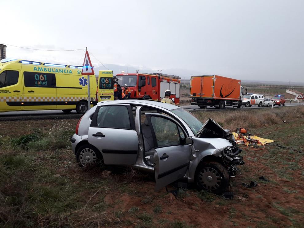 Accidente en Cervera de la Cañada