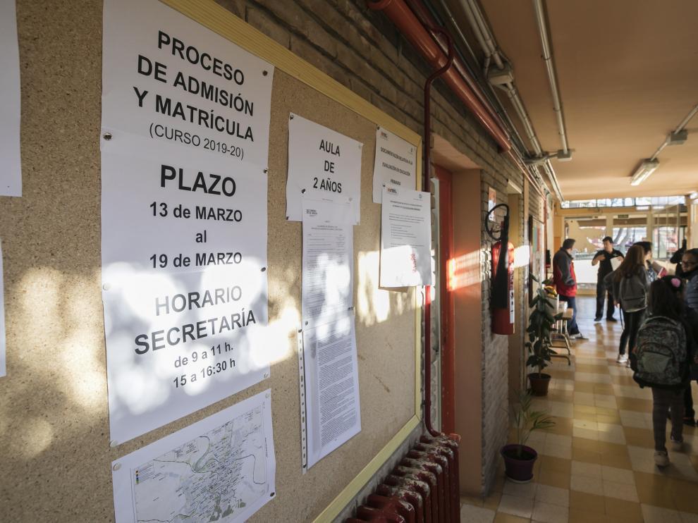 El proceso de escolarización está ya en su ecuador. Hoy se publica las listas definitivas de admitidos y excluidos.