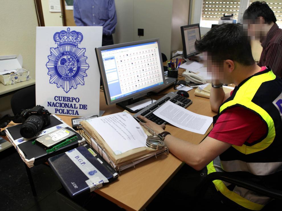 El grupo de Delitos Tecnológicos de la Jefatura Superior de la Policía Nacional en Zaragoza.