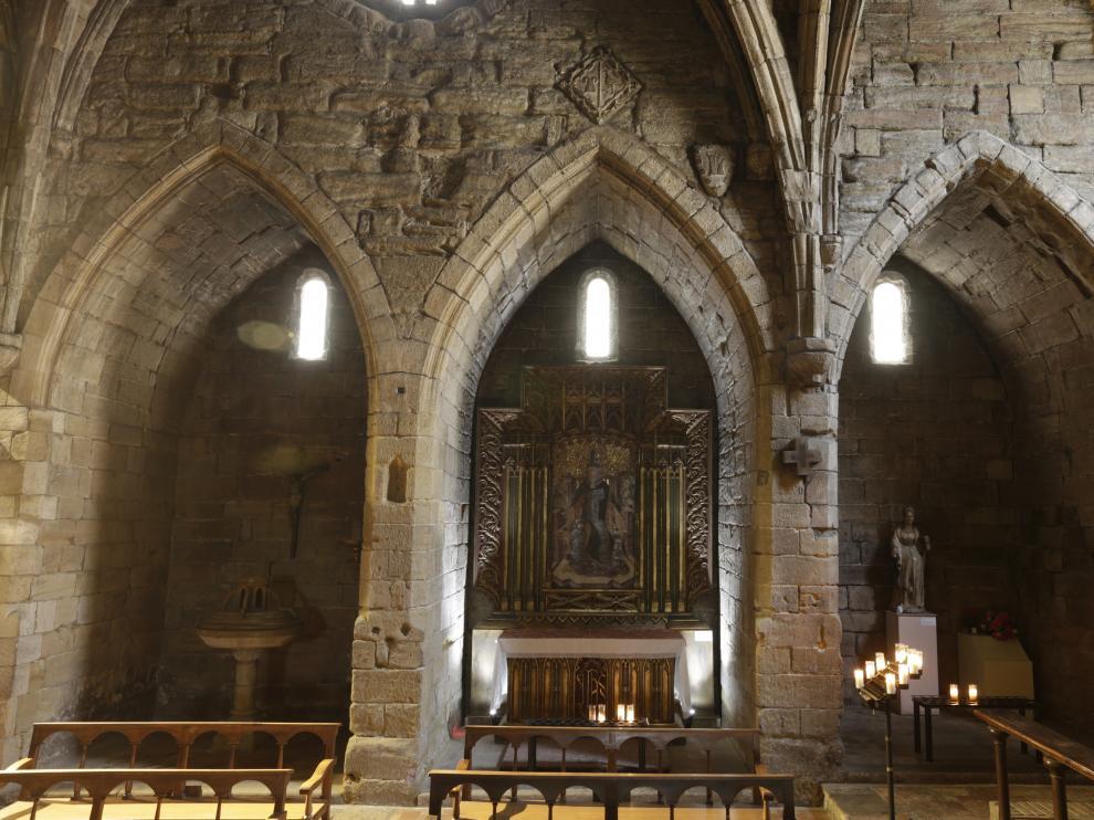 Retablo de San Blas, procedente de la iglesia de Algayón, en Tamarite de Litera.