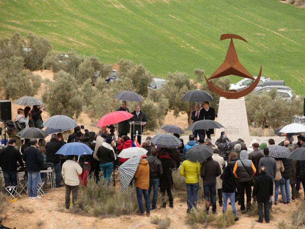 Un momento de la inauguración del memorial, en marzo de 2018.