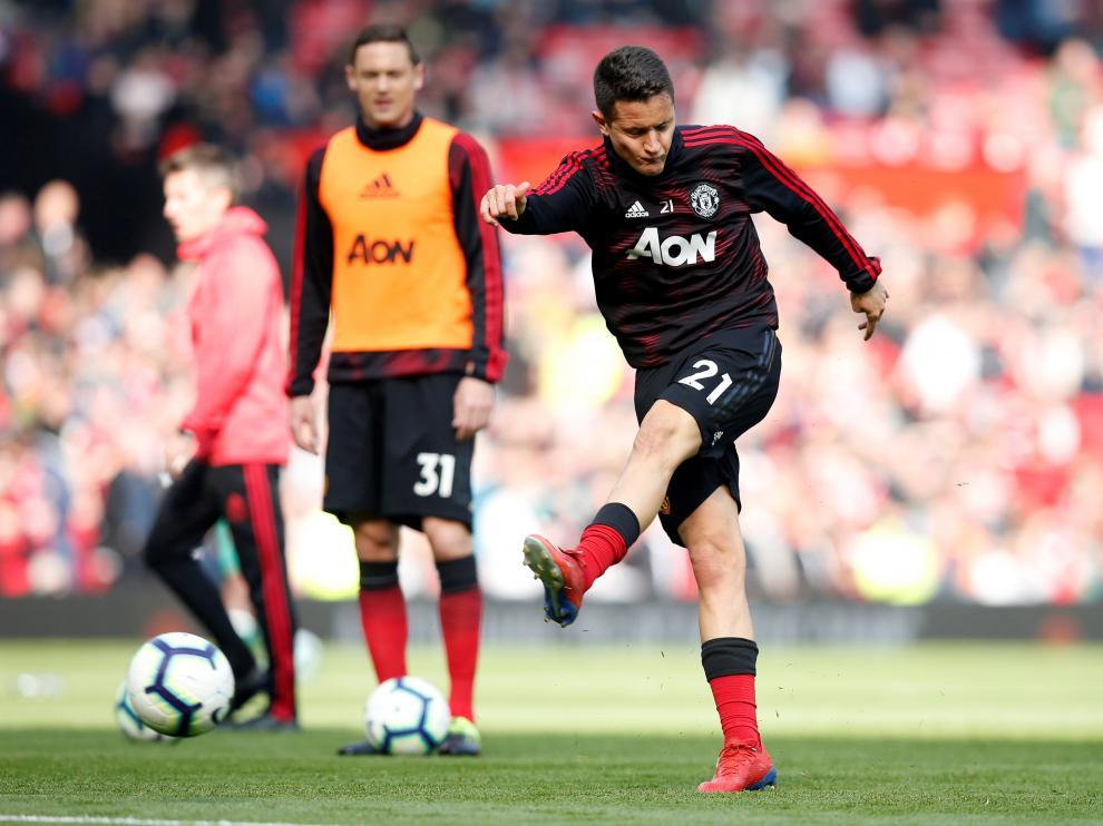 Ander Herrera, en un partido con el Manchester United.