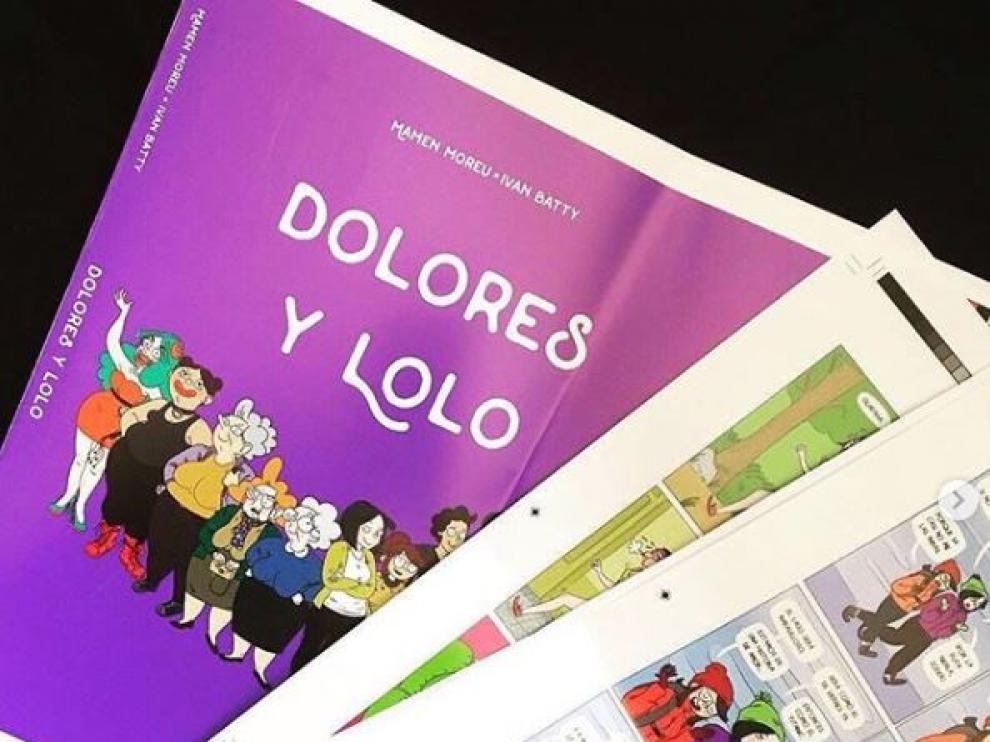 'Dolores y Lolo', el nuevo cómic que presenta la aragonesa Mamen Moreu en Barcelona Cómic
