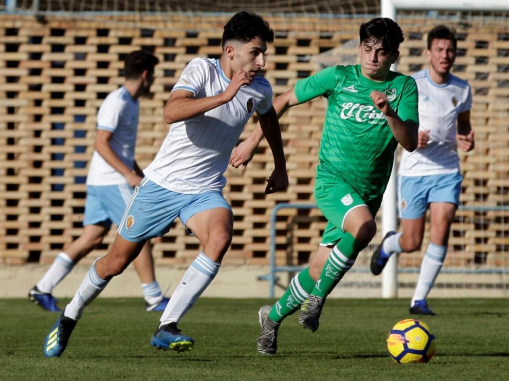 Imagen del derbi entre el Zaragoza y el Stadium de División de Honor Juvenil