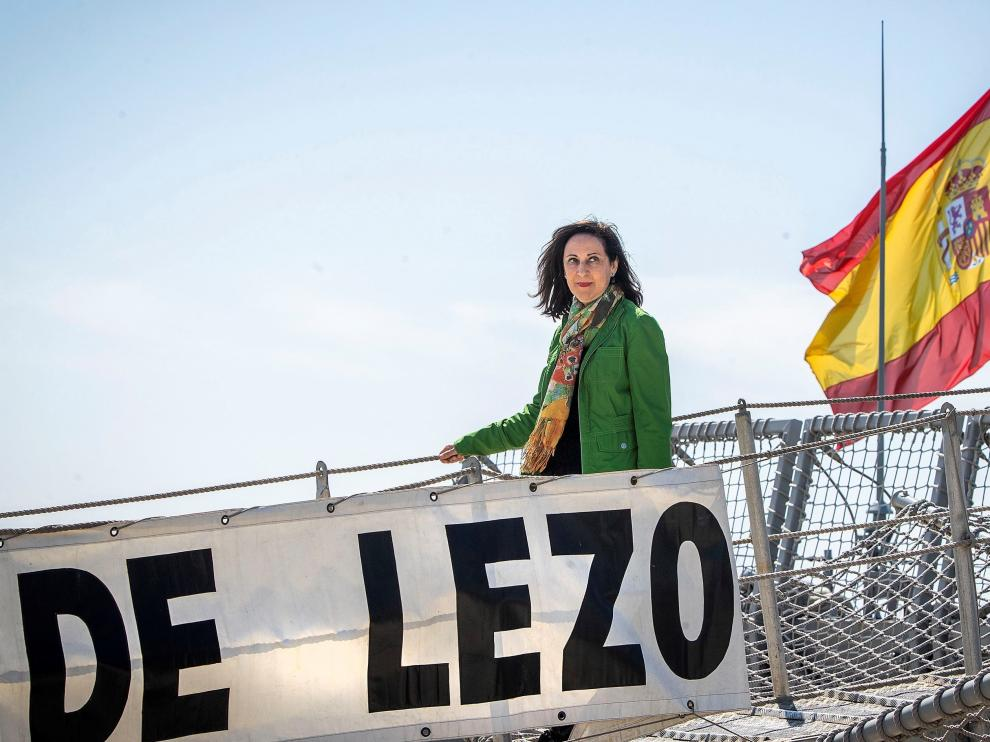 La ministra Robles durante un acto este miércoles en Cádiz