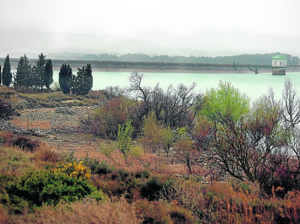 Situación actual del embalse de La Sotonera, que actualmente acumula 151 hectómetros cúbicos.