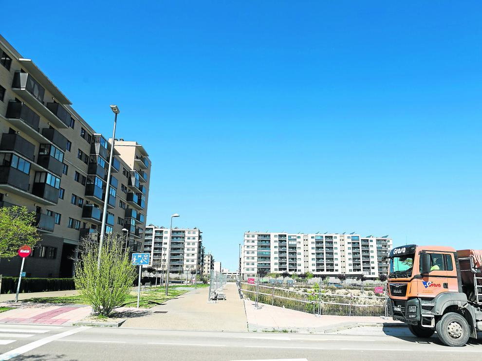 Vista de la zona de viviendas del barrio de Arcosur.