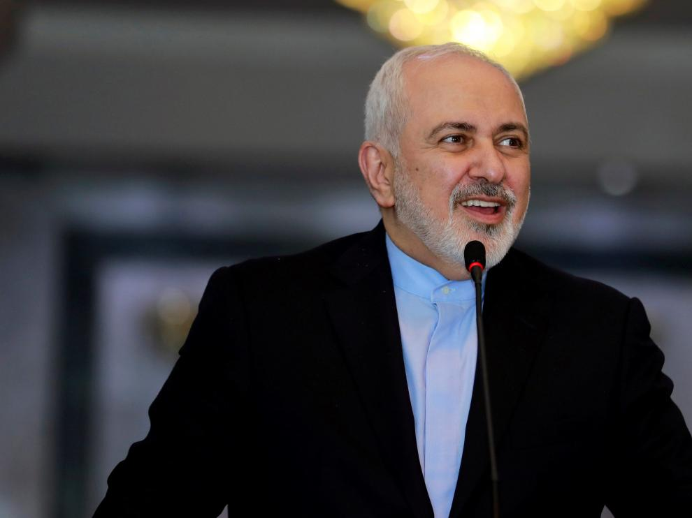 FILE PHOTO: Iranian Foreign Minister Mohammad Javad Zarif speaks during a news conference with Iraqi Foreign Minister Mohamed Ali Alhakim, in Baghdad, Iraq, March 10, 2019. REUTERS/Khalid Al-Mousily/File Photo [[[REUTERS VOCENTO]]] USA-IRAN/GUARDS