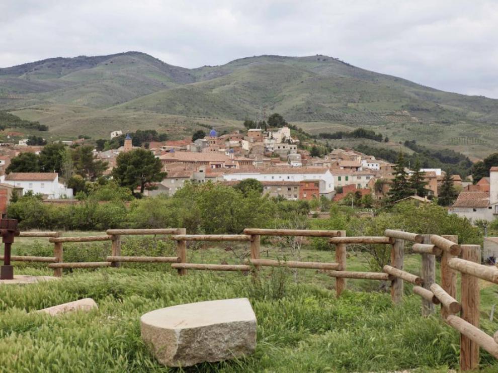 Vista de Morata de Jalón desde el mirador del camino del Baldío.