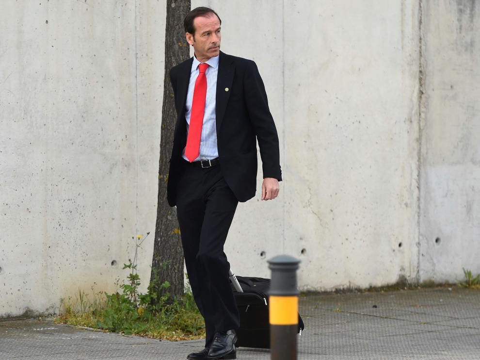 El inspector del Banco de España, José Antonio Casaus, llegando a la Audiencia Nacional, donde se juzga el Caso Bankia