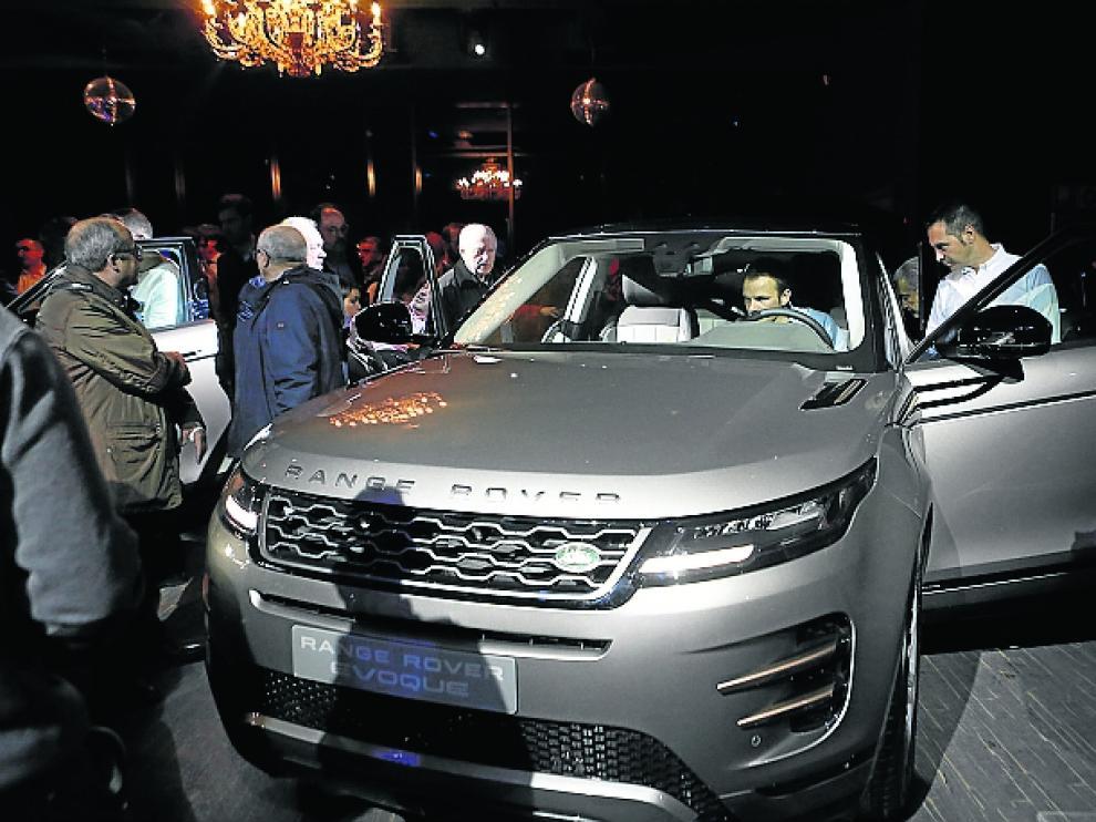 Presentación del Range Rover Evoque en Zaragoza.