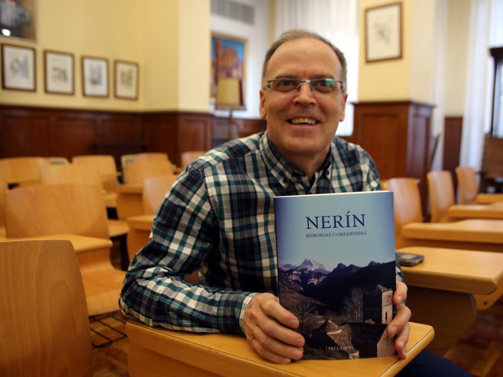 Rafael Latre, coordinador del libro colectivo 'Nerín. Historias compartidas'.