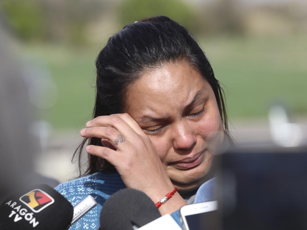 Mariela Benítez ha roto a llorar varias veces durante su comparecencia.